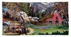 Rocky Mountain Ranch Bath Towel by Ron Chambers