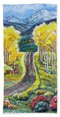 Rocky Mountain Road Hand Towel