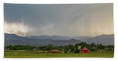 Bath Towel featuring the photograph Rocky Mountain Storming Panorama by James BO Insogna