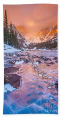 Rocky Mountain Sunrise Hand Towel