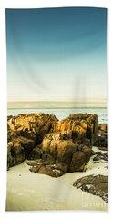 Rocky Oceanscape Bath Towel