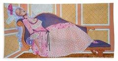 Rococo Coquette -- Mme. Pompadour, #2 In Famous Flirts Series Hand Towel