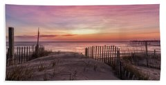 Bath Towel featuring the photograph Rodanthe Sunrise by Russell Pugh