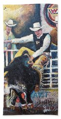 Rodeo Ride Hand Towel by Linda Shackelford