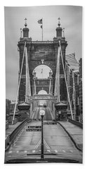 Roebling Bridge Bath Towel