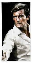 Roger Moore Hand Towel by Sergey Lukashin
