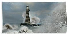 Roker Pier And Lighthouse Hand Towel
