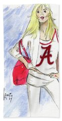 Bath Towel featuring the painting Roll Tide by P J Lewis