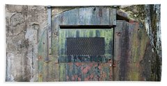 Rolling Door To The Bunker Hand Towel by Gary Slawsky
