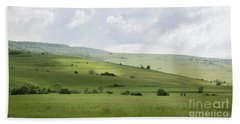 Rolling Landscape, Romania Bath Towel