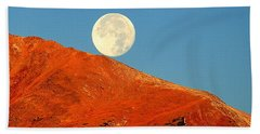 Hand Towel featuring the photograph Rolling Moon by Karen Shackles