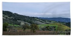 Rolling Vineyards Bath Towel