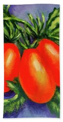Roma Tomatoes Bath Towel