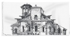 Roman Church At Chamalieres Bath Towel