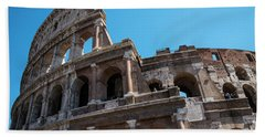 The Colosseum Of Rome Hand Towel