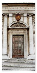 Bath Towel featuring the photograph Roman Doors - Door Photography - Rome, Italy by Melanie Alexandra Price