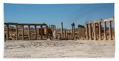 Bath Towel featuring the photograph Roman Ruins At Ajloun by Mae Wertz