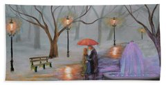 Romance In The Park Hand Towel