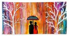 Romance In The Rain Hand Towel