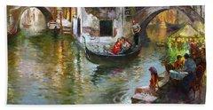 Romance In Venice 2 Bath Towel