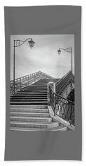 Romantic Bridge In Bw Hand Towel