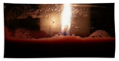 Bath Towel featuring the photograph Romantic Candle by Robert Knight