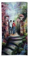 Romantic Landscape Hand Towel