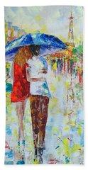 Romantic Paris Bath Towel