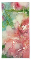 romantic Rose Hand Towel by Judith Levins