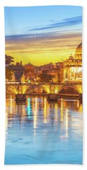 Rome At Twilight Hand Towel