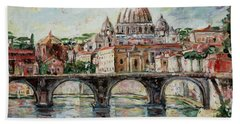 Rome Hand Towel by Alexandra Maria Ethlyn Cheshire