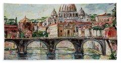 Rome Bath Towel by Alexandra Maria Ethlyn Cheshire