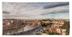 Hand Towel featuring the photograph Rome - Panorama  by Sergey Simanovsky