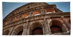 Bath Towel featuring the photograph Rome - The Colosseum 003 by Lance Vaughn