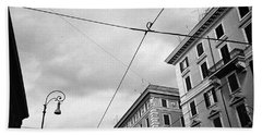Rome's Downtown Cable Sky Hand Towel