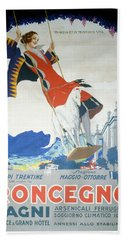 Roncegno Bagni - Palace And Grand Hotel - Vintage Advertising Poster Hand Towel