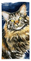 Ronja - Maine Coon Cat Painting Bath Towel
