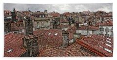 Roofs Over Santiago Hand Towel