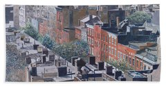 Rooftops Greenwich Village Hand Towel