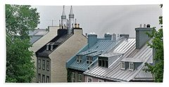 Hand Towel featuring the photograph Rooftops by John Schneider