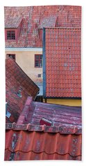 Rooftops Of The Swedish Town Visby Bath Towel