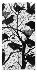 Rooks Hand Towel by Nat Morley
