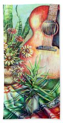 Room For Guitar Hand Towel by Linda Shackelford