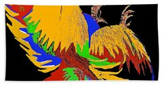 Rooster Fight Bath Towel