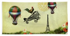Rooster Flying High Hand Towel by Peggy Collins