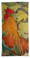 Rooster Bath Towel by Laurianna Taylor