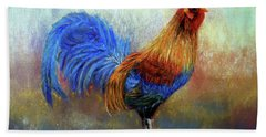 Rooster Hand Towel by Loretta Luglio
