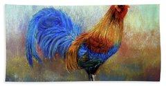 Rooster Bath Towel by Loretta Luglio