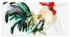 Rooster Hand Towel by Suren Nersisyan