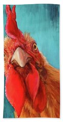 Rooster With Attitude Hand Towel
